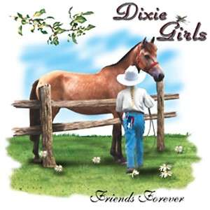 Dixie Rebel Horse Rodeo Cowgirl  FRIENDS FOREVER