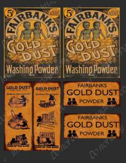 Fairbanks Gold Dust Label Set FH301 Make Your Own Box