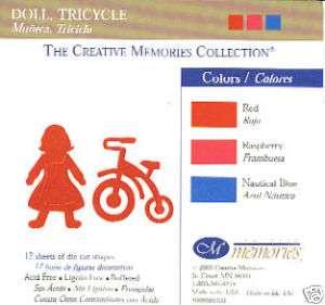 Creative Memories Die Cuts BABY DOLL TRIKE ~RED~