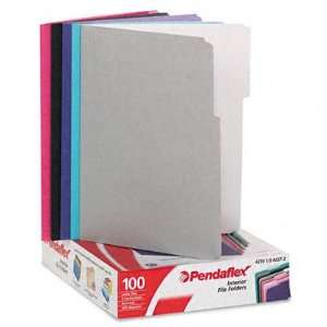 Recycled Interior File Folders, Assorted Pastel Colors, 1