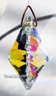 Scallop Spade 50mm AB Austrian Crystal Prism SunCatcher