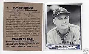 1944 Play Ball #2 MARK CHRISTMAN, Browns (@1983 TCMA)