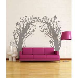 Vinyl Wall Decal Sticker Butterfly Floral Blossom Tree