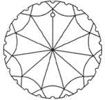 Scallop Round 50mm Austrian Crystal Prism SunCatcher