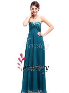 Sweetheart Neckline Rhinestones Crystal Beads Prom Dress 09568GR