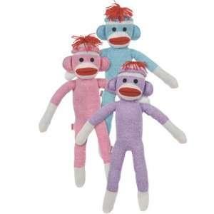 Schylling Purple Sock Monkey Stuffed Toy Toys & Games