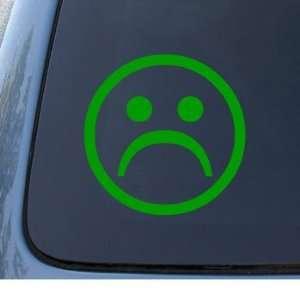 FROWN   Unhappy Face   Car, Truck, Notebook, Vinyl Decal Sticker #1015