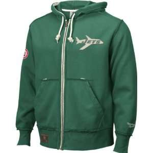 New York Jets Vintage Full Zip Hooded Sweatshirt: Sports