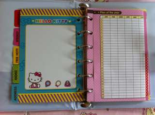 Hello Kitty Refill Schedule Book Datebook Diary Book Planner B