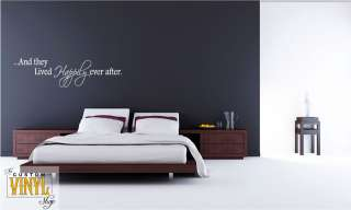 Happily Ever After Vinyl Wall Decal measuring roughly 6 x 22
