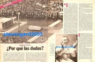 POPE JOHN PAUL I DEATH magazine Argentina 1978