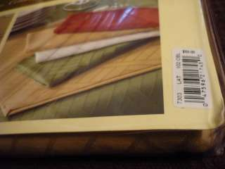 LENOX Textures LATTE tablecloth 60 X 102 oblong NIP!!