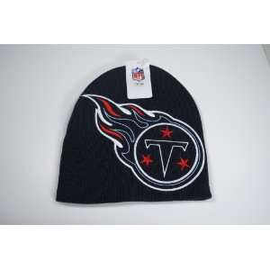Titans Navy Blue Big Logo Beanie Cap Winter Hat