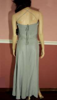 NWT ROBERT RODRIGUEZ LONG BLUE WRAP DRESS size 0