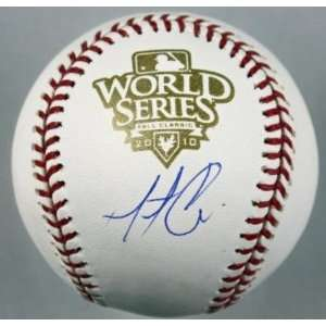 Matt Cain Signed Baseball   Authentic 2010 Ws