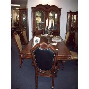 Formal Dining Set Table, 8 Chairs, China Cabinet