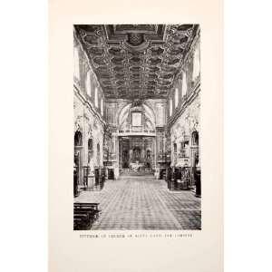 1901 Print Interior Church Santa Maria Del Carmine Religion llHistoric