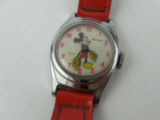 VINTAGE MICKEY MOUSE WALT DISNEY INGERSOLL WRIST WATCH