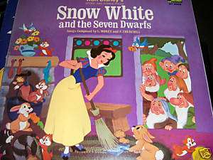 Disneyland Record Walt Disneys Snow White 1969