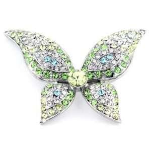Rhinestone Butterfly Brooch Pin Jewelry