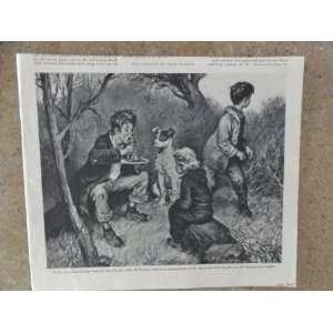 and dog) Orinigal Vintage 1946 the saturday evening post Magazine Art