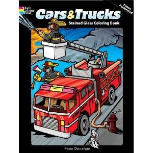 Dover Publications Cars/Trucks Stained Glass Coloring Book