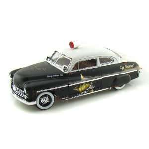 1949 Mercury Coupe Rat Rod Police 1/18 Black & White Toys