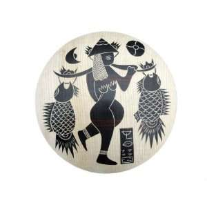 Dongba Naxi Tribal Artist Wood Carving Art Painting #157   FREE