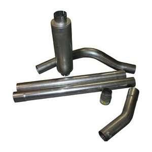 BULLY DOG 181040 Cat Back; Rapid Flow Exhaust; 4 in.; Aluminized Steel