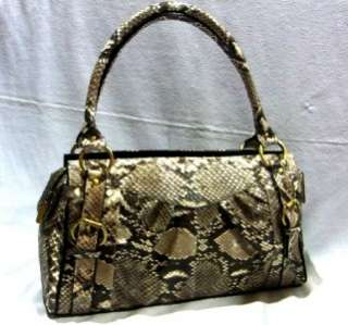 GENUINE PYTHON SNAKE SKIN LEATHER SHOULDER BAG PURSE