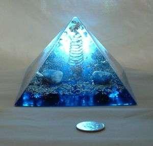 Giza Orgone Pyramid w Lapis Lemurian Quartz Gold