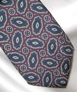 Jsaco Italy Mens Geometric Purple & Blue Silk Tie