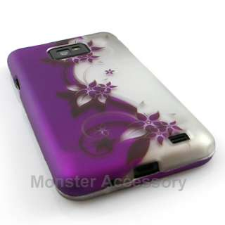 Purple Flowers Hard Case Cover For Samsung Galaxy S 2 Not For Sprint