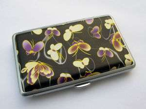 NEW beautiful butterfly leather cigarette case Cardcase