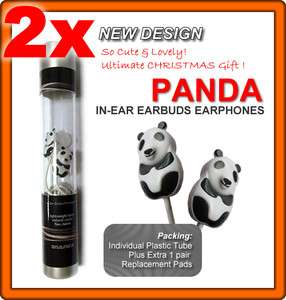 PAIRS    PANDA In Ear Earbuds Earphones Headphones
