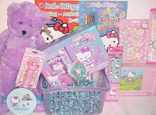 NEW HELLO KITTY EASTER TOY GIFT BASKET BIRTHDAY TOYS ART SET