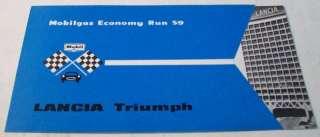 Lancia 1959 Triumph Mobil Gas Economy Brochure