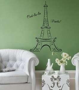 Eiffel Tower Ooh la la Vinyl Lettering Wall Decal art