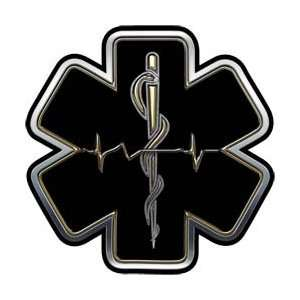 Gold EMT EMS Star Of Life With Heartbeat   2 h