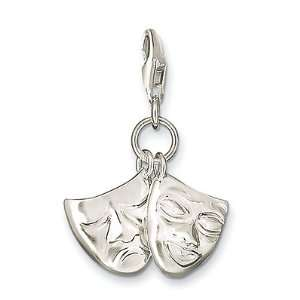 Thomas Sabo Comedy And Tragedy Masks Charm, Sterling