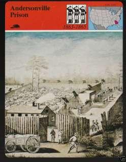 ANDERSONVILLE PRISON Confederate Civil War PICTURE CARD |