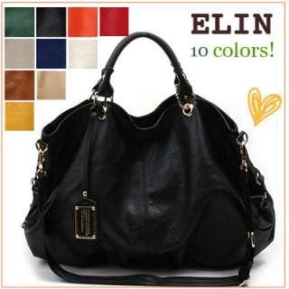 MADE IN KOREA]NWT Genuine leather ELIN Large handbag tote shoulder