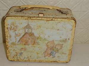 VINTAGE METAL LUNCH BOX 1975 HALLMARK CARDS PRECIOUS MOMENTS BETSY