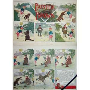 Buster Brown Crocodile Foxy Grandpa Cartoon 1908: Home