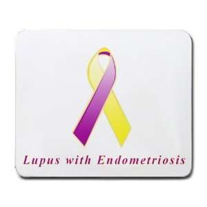 Lupus with Endometriosis Awareness Ribbon Mouse Pad