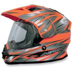 AFX FX 39 Dual Sport Motorcycle Helmet Safety Orange Multi Extra Large