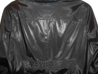 Venezia Black Polyvinyl Polyurethane Dress Jacket Coat Size 18/20 New