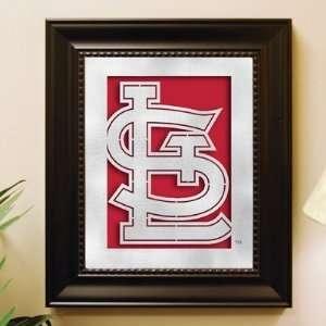 St Louis Cardinals Framed Laser Cut Metal Wall Art