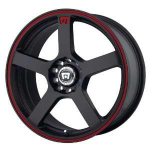 Motegi MR116 16x7 Black Wheel / Rim 5x4.25 & 5x4.5 with a 40mm Offset