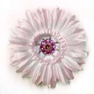 Gerber Daisy Rhinestones Fabric Flower Hair Clip & Pin
